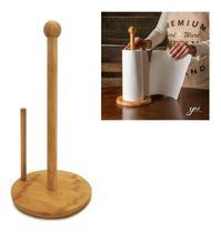 Suporte Porta Papel Toalha Madeira Bambu Bancada Cozinha Tyft - Yoi -