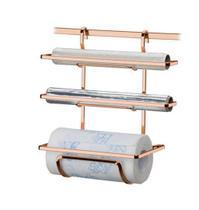 Suporte Porta Rolo Triplo Papel Toalha Barra Rosé Gold Cozinha - 2801RG Future -