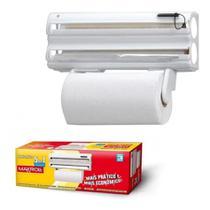 Suporte Porta Rolos Papel Toalha Alumínio De Parede Clean 5x1 MaxRoll - Purimax -