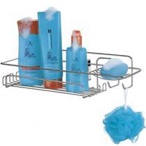 Suporte Porta Shampoo Sabonete Produtos De Banho De Ventosas - Arthi