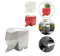 Suporte Porta Talheres Suporte Escova de Dente Com Escorredor Elefante Vaso Planta -