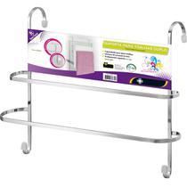 Suporte Porta Toalhas Duplo em Aço Toalheiro Box de Banheiro - Zanline