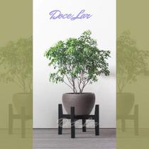 Suporte / Prateleira / Rack / Pedestal moderno de madeira para vaso de plantas, flores - Gartur