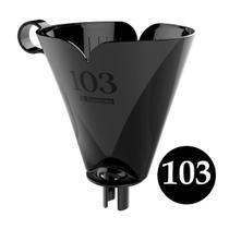 Suporte Preto plástico para coador filtro café chá 103 para garrafa Térmica Sanremo -