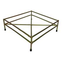 Suporte Quadrado Chão p/ Vaso de Plantas 23 cm Ferro Dourado hy3252 - Hyp.