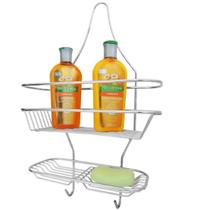 Suporte Shampoo E Porta Sabonete De Registro Do Banheiro Aço - Zanline