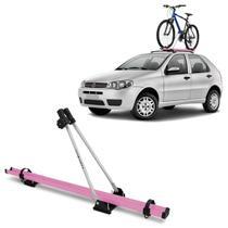 Suporte Transbike de Bicicleta Para Rack de Teto Rosa e Prata Capacidade Para 1 Bike Universal - Projecar