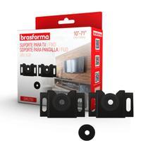 "Suporte Tv Universal Fixo p/ parede e painel resistente 10-71"" Led/Lcd/Plasma - Brasforma"