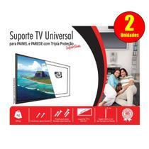 Suporte TV Universal Para Painel e Parede Super Slim - Kit com 2 unidades - Capte