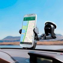 Suporte Veicular para Celular e GPS com Trava Automática e Haste Retrátil de 10cm Exbom SP-72 -