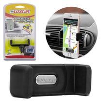 Suporte Veicular Universal para Smartphone Celular GPS Luxcar Difusor Saída de Ar Emborrachado Preto -
