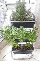 Suporte Vertical de Chão para Horta e Floreiras 3 Vasos - Altmayer