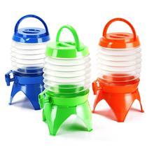 Suqueira dispenser retratil 5,5 litros para camping praia viagem portatil expansivel com torneira tampa e alça para transporte - GIMP