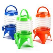 Suqueira dispenser retratil 7,5 litros para camping praia viagem portatil expansivel com torneira tampa e alça para transporte - GIMP
