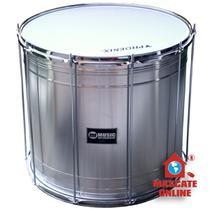 Surdo alumínio 20 pol 50cm profissional Music 412ls surdão samba 20x50 -