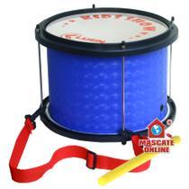 Surdo infantil PVC Azul Luen Kids Instrumento Musical Percussão Samba 29473AZ -