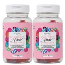 Sweet Grow Vitaminas Para Cabelos e Unhas - 30 Gomas - 2 Frascos - Phinna Cosméticos
