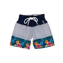 Swim Shorts Infantil Floral Marinho - Use Bora