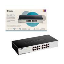 Switch 16 Portas D-Link DGS-1016C, Gigabit 10/100/1000 - Não Gerenciável -