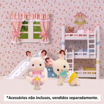 Sylvanian Families - Coelhos Gêmeos - Chocolate - Epoch -