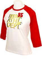 T-shirt Athletic Feminina Vermelha e Branca - Reebok