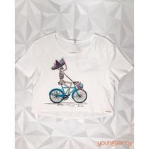 T-Shirt Casual Bike Aguá De Coco  P - Bana Bana