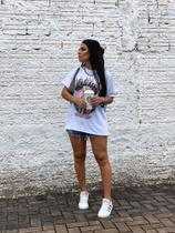 T-Shirt Def Leopard Off White - Vida Bela