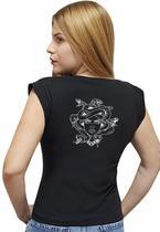 T-shirt Feminina Casual 100% Algodão Estampa Medusa Avalon CF01 Opções de Cores - Stefanello