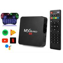 T-v Box Transforma T-v MX-Q Em Smart Android 4k Pro 4GB 32GB + Teclado Led - Hevc