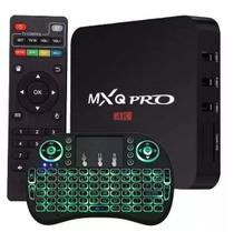 T-v Box Transforma T-v MX-Q Em Smart Android 4k Pro 4gb/64gb + Teclado Brinde - Mxq