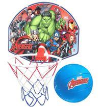Tabela De Basquete Avengers Com Aro Com Rede e Bola - Lider - Lider Brinquedos