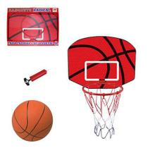 Tabela de Basquete com Aro Bola de Plástico e Bomba - Dm toys