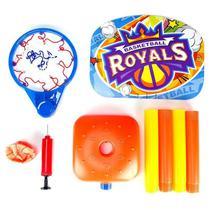 Tabela infantil portatil de basquete cesta ajustavel completa ate 115cm com bola e bomba - Makeda