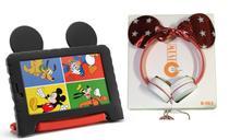 Tablet Capa Emborrachada Mickey 16GB Android 8 + Fone Minnie - Multilaser
