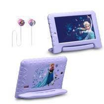 Tablet da Frozen Plus Wi Fi Tela 7 Pol. 16GB + fone de ouvido Multilaser - Kit