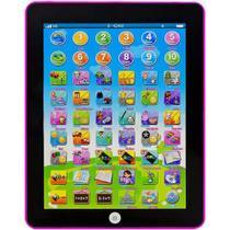 Tablet Didático Educativo Infantil Crianças Inglês/Português Well Kids Rosa 4512 - Wellkids