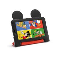 Tablet Disney Mickey Tela 7 Polegadas Wifi 16GB 1GB de Ram Multilaser Preto com Vermelho -