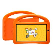 Tablet DL Creative Kids,Tela de 7, 8GB, Wi-Fi, Android 7, Quad Core de 1.2 Ghz Capa Laranja -