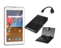 Tablet Dourado com Teclado 16GB Dual Chip Android 8 Celular - Multilaser