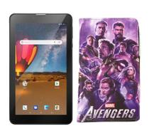 Tablet Dual Chip M7 3G Plus WIFI 16GB Android 8 Tela 7 + Capa dos Vingadores - Multilaser