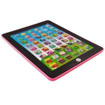 Tablet Infantil Brinquedo Didático Interativo Bilingue Laptop 54 Funções - ROSA - Art Brink