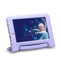 Tablet Infantil Disney Frozen Kids Plus Multilaser NB315 Capa Emborrachada Roxo 16GB Bluetooth Wi-Fi -