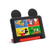 Tablet Infantil Disney Mickey Mouse Plus+ Multilaser NB314 Capa Emborrachada 16GB Bluetooth Wi-Fi -