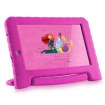 Tablet Infantil Disney Princesas Plus Multilaser Rosa 8Gb Android Wifi NB281 -