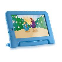 Tablet Infantil Galinha Pintadinha Kid Pad Plus Multilaser NB311 Capa Azul 16GB Bluetooth Wi-Fi -
