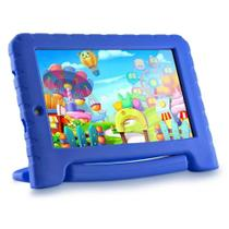 Tablet infantil kids pad plus azul com capa e 2 câmeras multilaser -