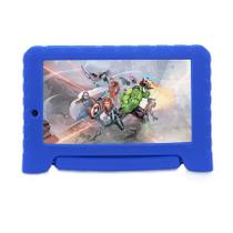 Tablet Infantil Marvel Avengers Plus Multilaser NB307 Capa Emborrachada Azul 16GB Bluetooth Wi-Fi