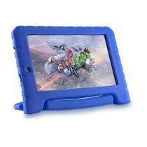 Tablet Infantil Marvel Avengers Plus Multilaser NB307 Capa Emborrachada Azul 16GB Bluetooth Wi-Fi -