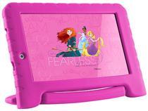 "Tablet Infantil Multilaser Disney Princesas Plus 8GB Tela 7""- Wi-Fi Processador Quad Core Android Câmera Integrada - NB281 -"