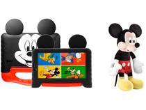"Tablet Infantil Multilaser Mickey Plus com Capa  - 16GB 7"" Wi-Fi Android 8.1 Quad Core + Pelúcia"